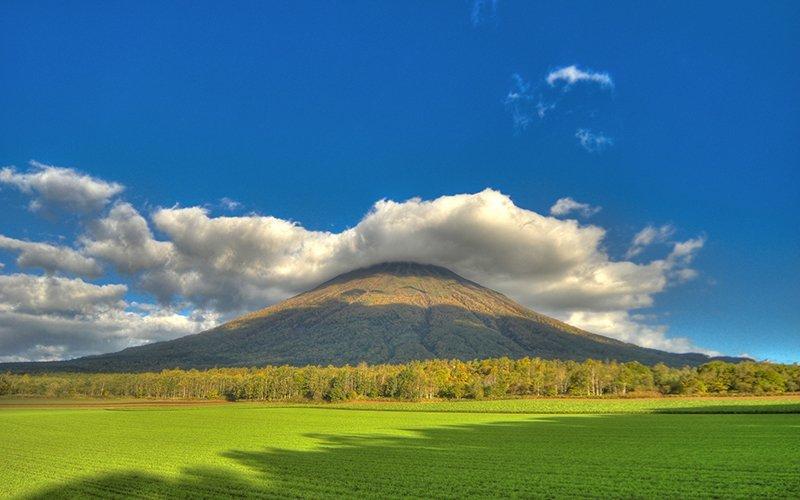 Mt Yotei in the summer green season niseko