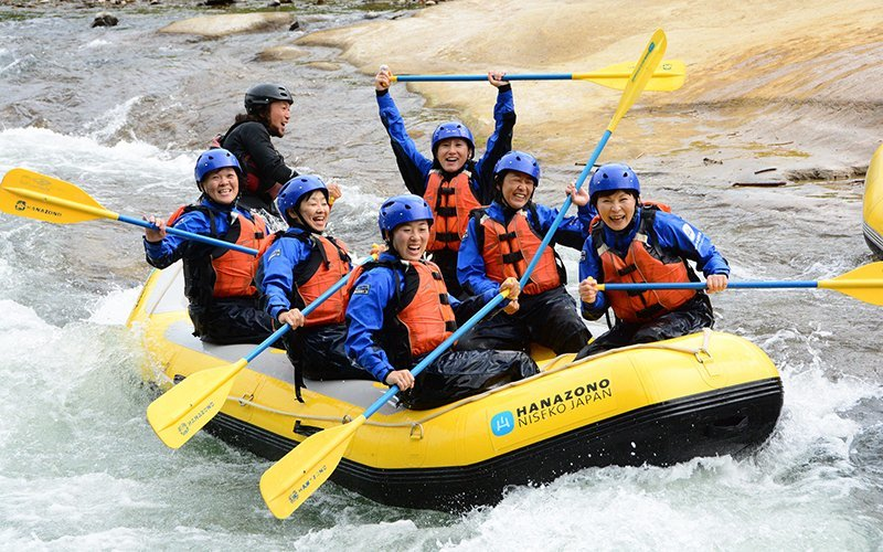 Hanazono Rafting during summer in Niseko