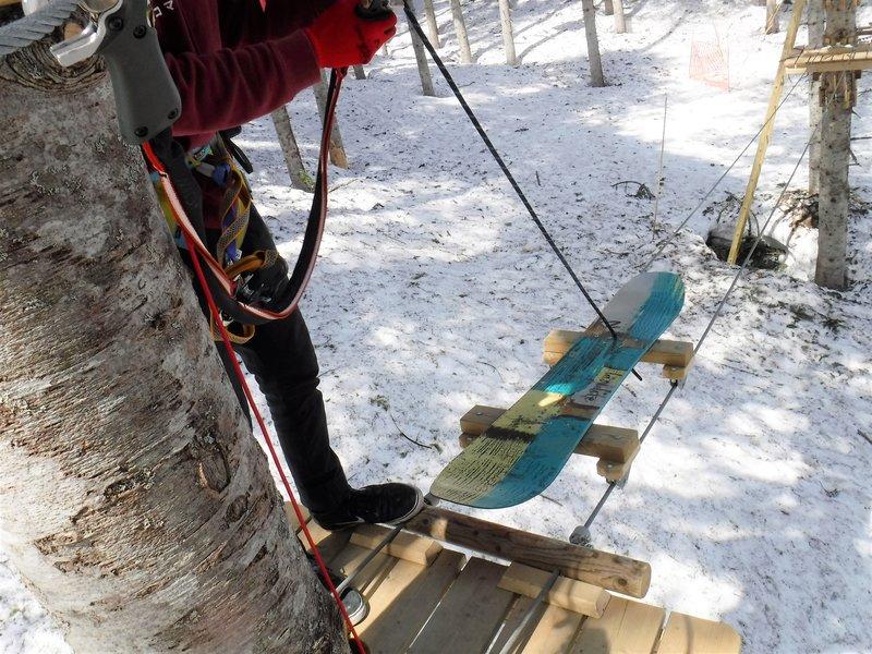 NACアドベンチャーセンターのスノーボード