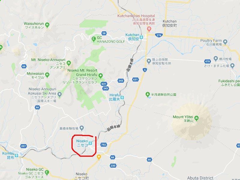 google maps niseko town
