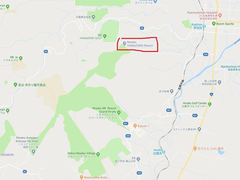 google maps hanazono niseko