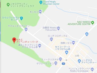 NACアドベンチャーパークへの地図