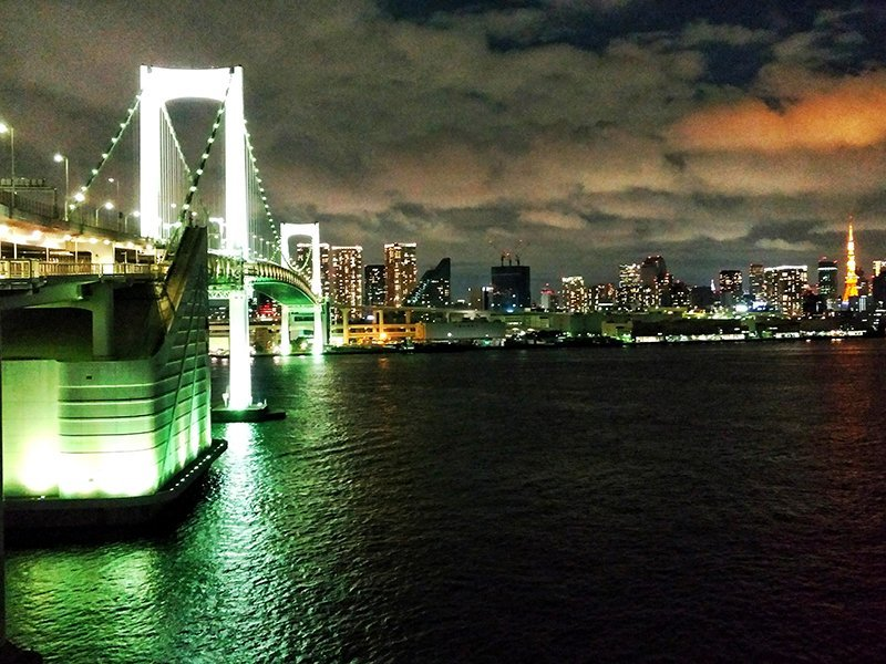 Tokyo Rainbow Bridge Sunset on the way to Odaiba