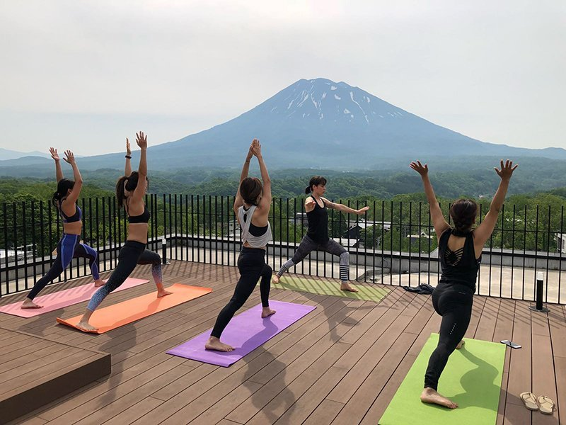Vacation Niseko Loft rooftop summer yoga retreat