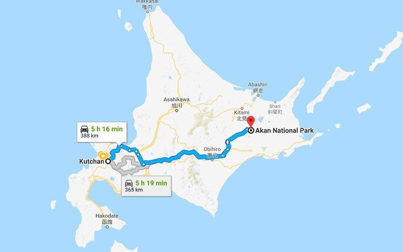 Kutchan Hokkaido Akan National Park Google Maps