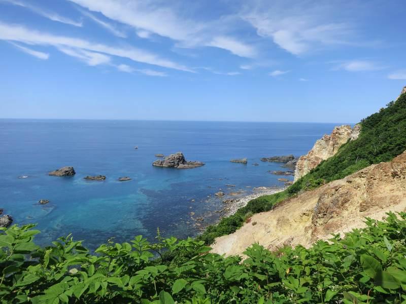 神威岬からの積丹の海の眺め