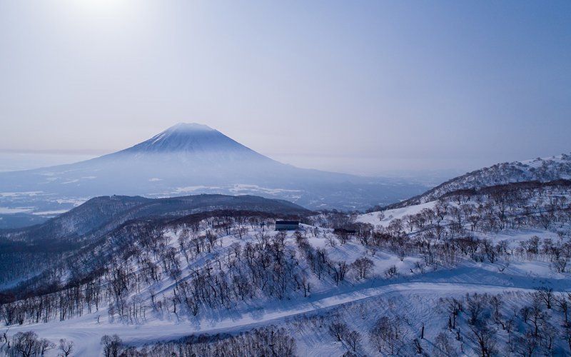 niseko resort drone mt yotei
