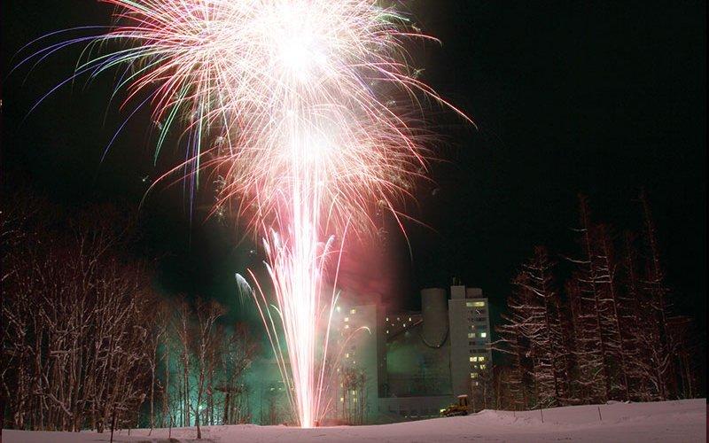 niseko village hilton fireworks chinese new year