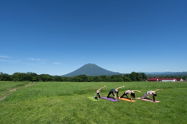 morning yoga niseko mt yotei