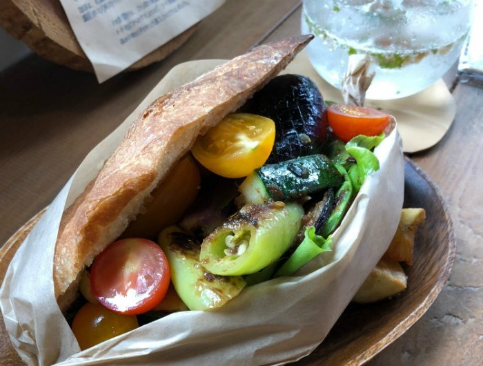 delicious vegetable sandwich in Niseko