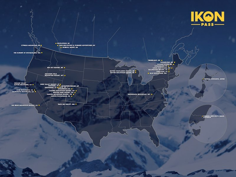 ikon pass ski resort map