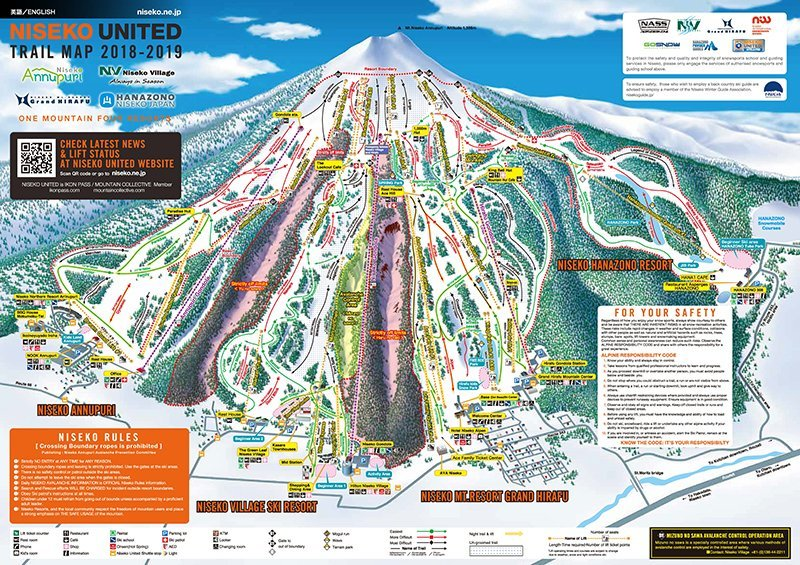 niseko united trail map 2019