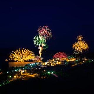 Vacation niseko lake toya fireworks summer small