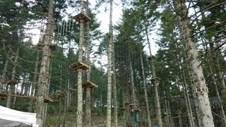 The NAC Adventure Park with 8 tree trekking courses ranging from beginner to advanced