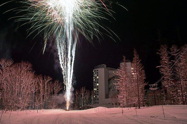 Niseko village fireworks medium